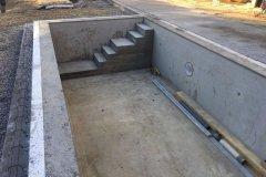 Maconnerie piscine beton en Haute Savoie